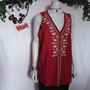 Nwt St John's bay sleeveless top